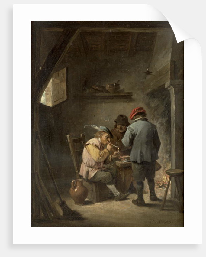 Peasants by an Inn Fire by David the Younger Teniers