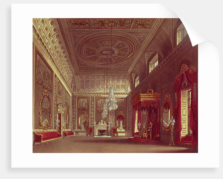 The Saloon, Buckingham Palace by William Henry Pyne