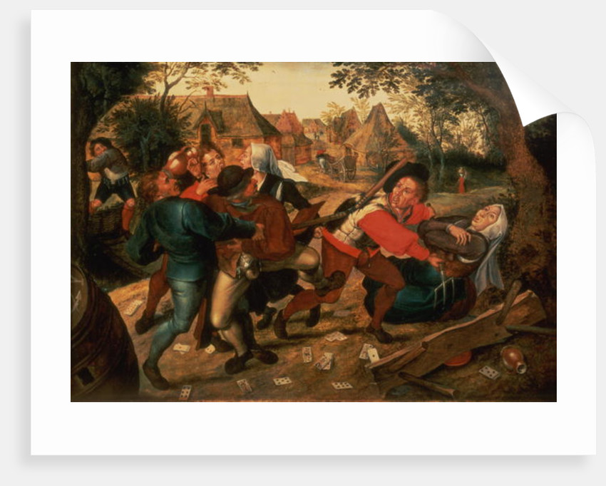 Gamblers Quarrelling by Pieter the Younger Brueghel