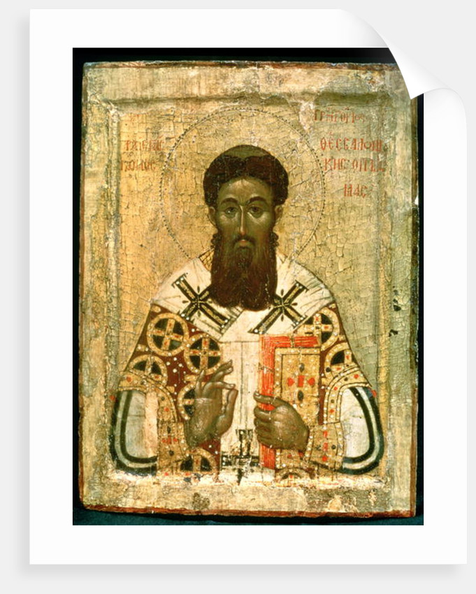 Icon of St. Gregory Archbishop of Thessaloniki by Russian School