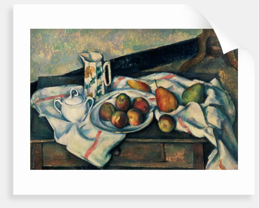 Still Life of Peaches and Pears by Paul Cezanne
