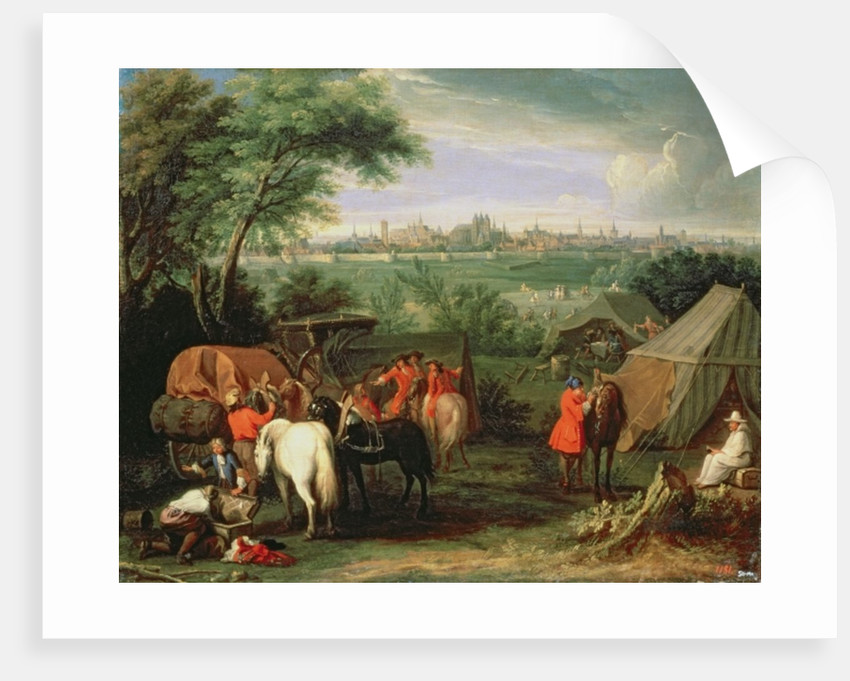 The Siege of Tournai by Louis XIV by Adam Frans Van der Meulen