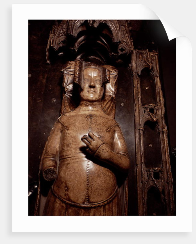Effigy of Philippa of Hainault by Jean de Liege