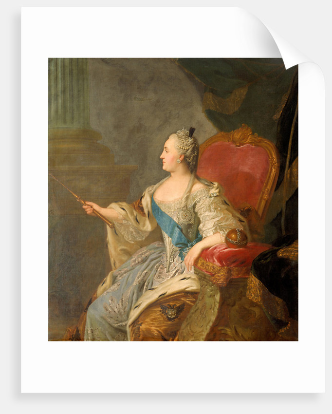 Catherine the Great by Fedor Stepanovich Rokotov