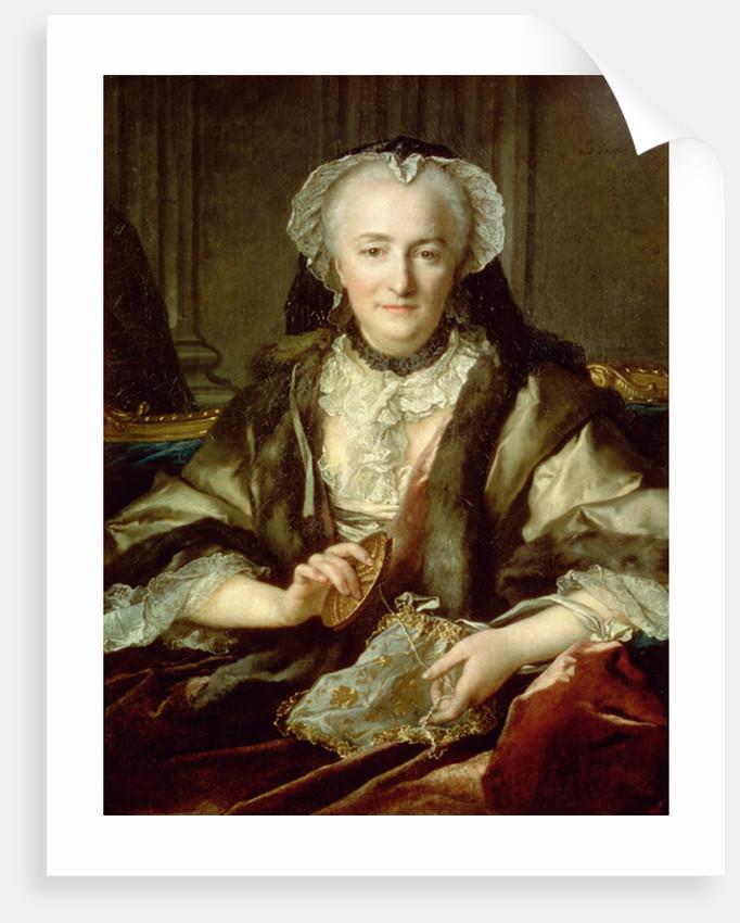 Madame Danze Sewing by Nikolai Tokareff