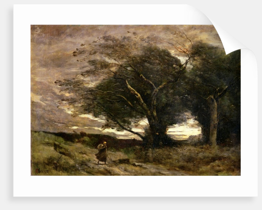 Gust of Wind by Jean Baptiste Camille Corot