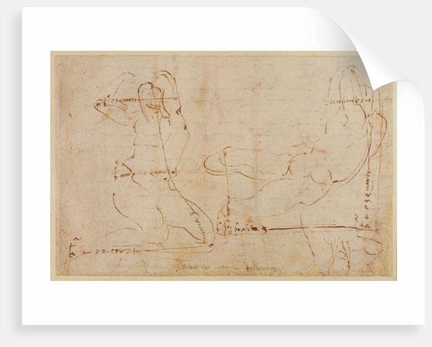 Study for River God by Michelangelo Buonarroti