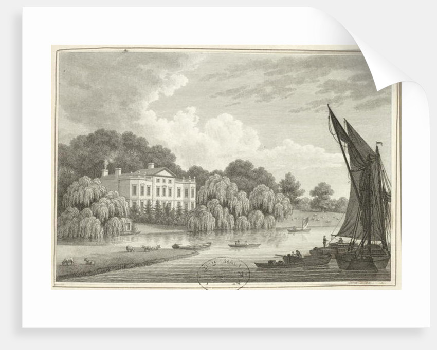 Country House with Lake and Boats by Walter Williams