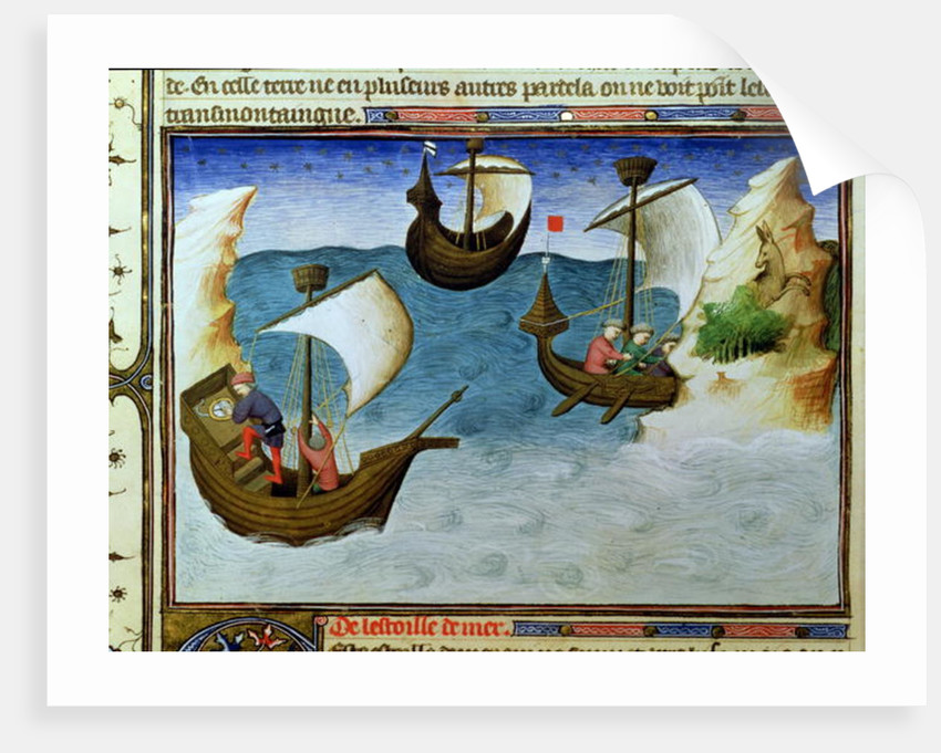 Navigators using an astrolabe in the Indian Ocean by Boucicaut Master