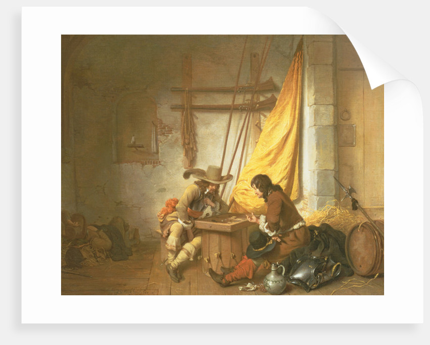 Soldiers Playing Tric-Trac by Gerbrandt van den Eeckhout