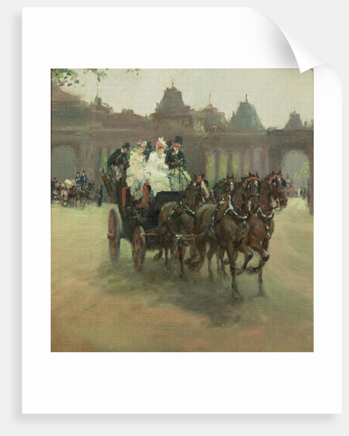 Carriages at Hyde Park by Albert Snr. Ludovici