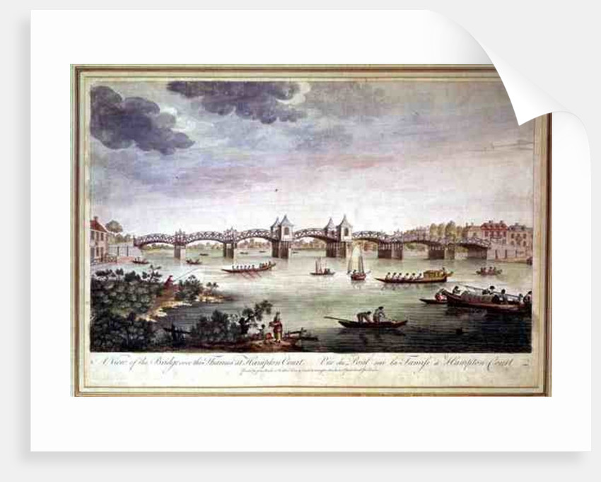 View of the Bridge over the Thames at Hampton Court by English School