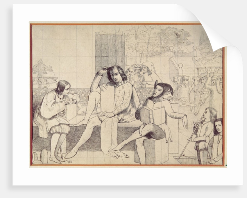 Twelfth Night by Walter Howell Deverell