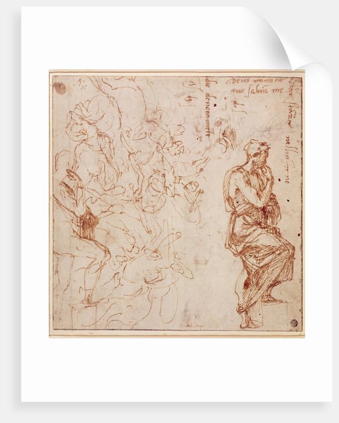 Figure Studies for a Woman by Michelangelo Buonarroti