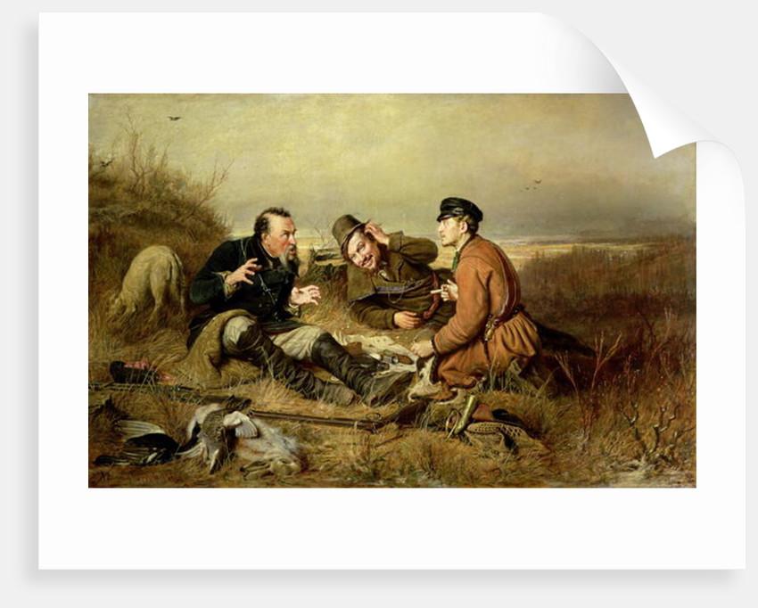 Hunters by Vasili Grigorevich Perov