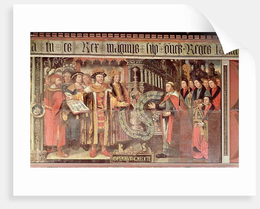 Bishop Robert Sherburne with Henry VIII by Lambert Barnard