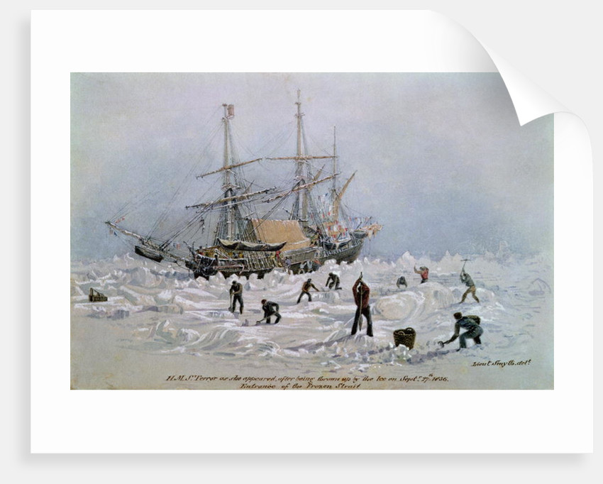 Incidents on a Trading Journey: HMS Terror as she Appeared After Being Thrown Up by the Ice in Frozen Channel by Lieutenant Smyth