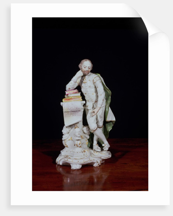 William Shakespeare, based on the monument in Westminster Abbey by Peter Scheemakers