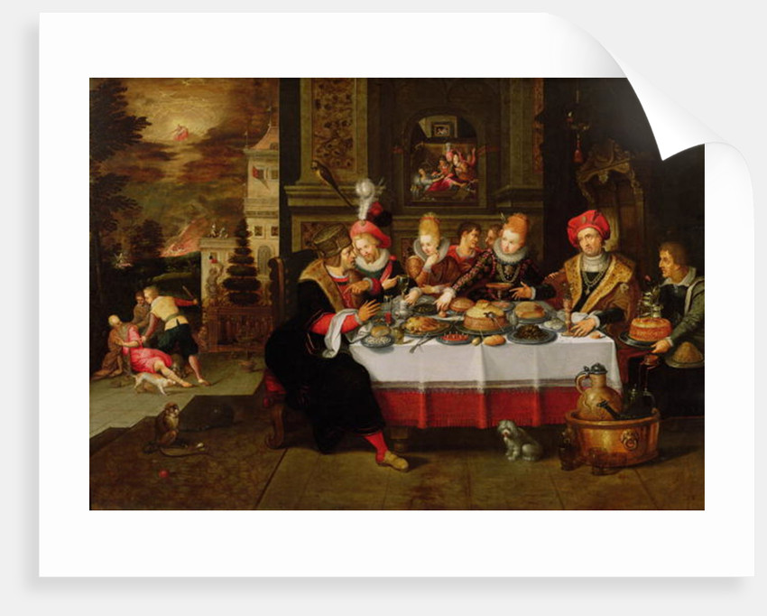 Lazarus and the Rich Man's Table by Kasper or Gaspar van den Hoecke