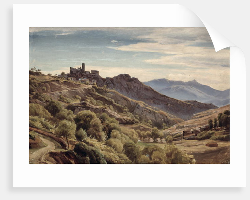 View of Olevano by Franz Theobald Horny