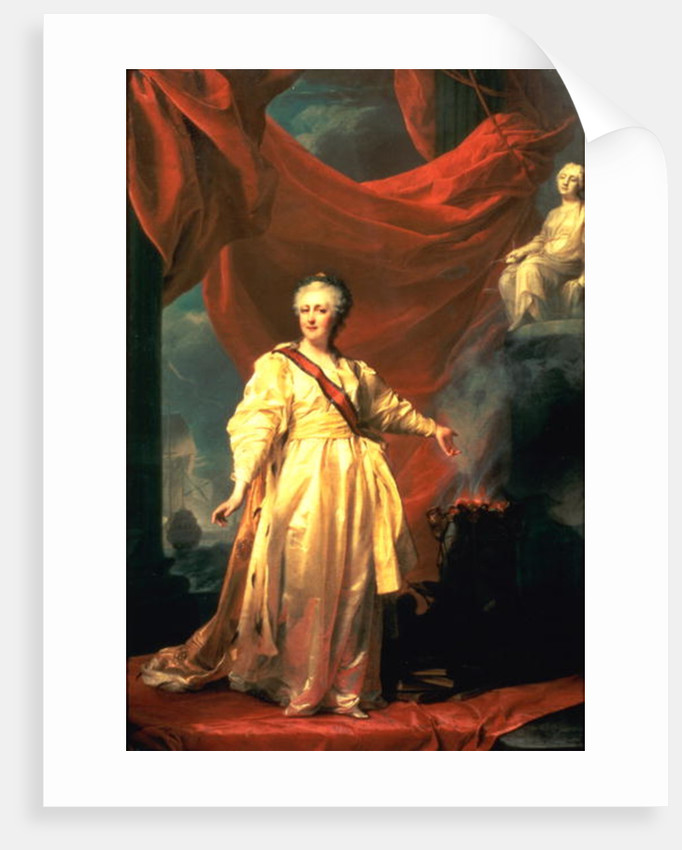 Portrait of Catherine the Great as Lawgiver in the Temple of the Goddess of Justice by Dmitri Grigor'evich Levitsky