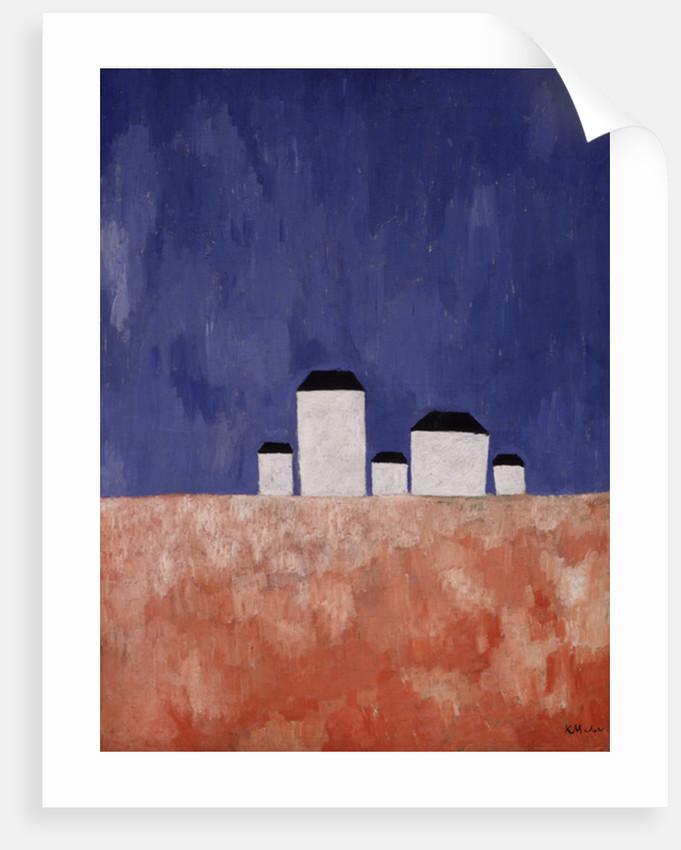 Landscape with Five Houses by Kazimir Severinovich Malevich