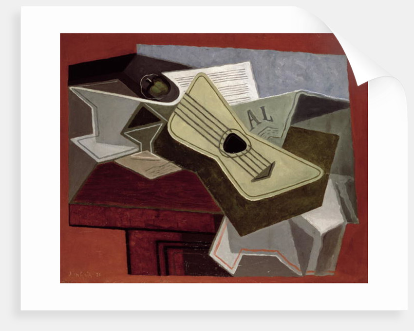 Guitar and Newspaper by Juan Gris