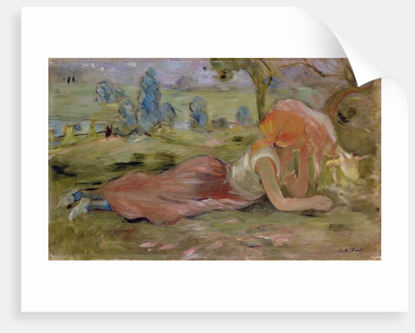 The Goatherd by Berthe Morisot