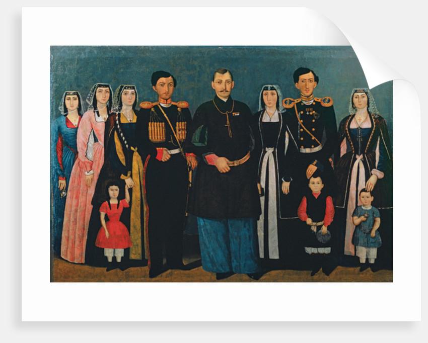 N.E. Mukhran-Batoni with family by Iranian School