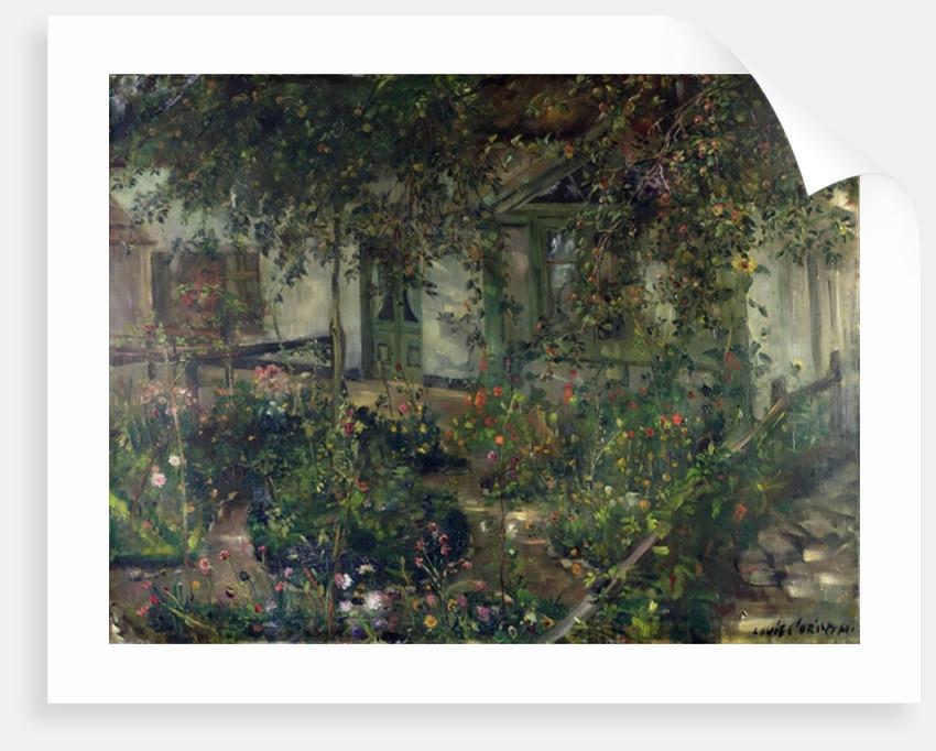Flower garden in bloom by Lovis Corinth