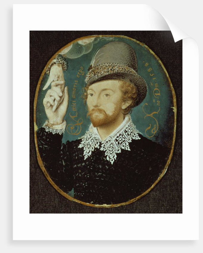Man clasping hand from a cloud, possibly William Shakespeare by Nicholas Hilliard