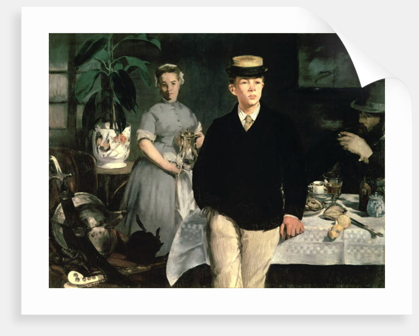 Luncheon in the Studio by Edouard Manet
