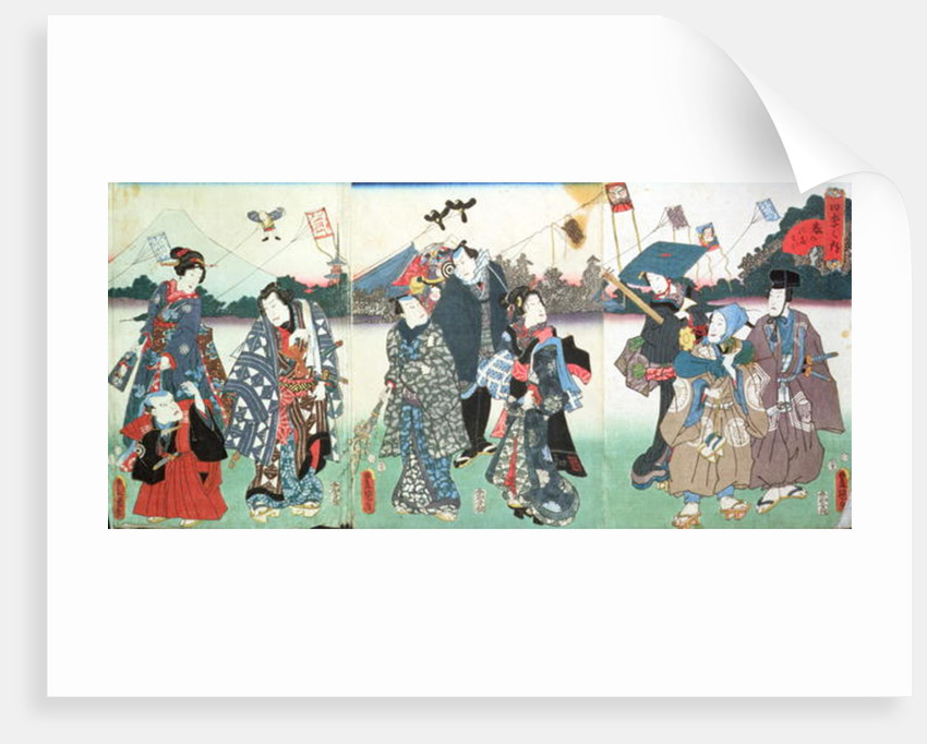 New Year's festival by Utagawa Kunisada