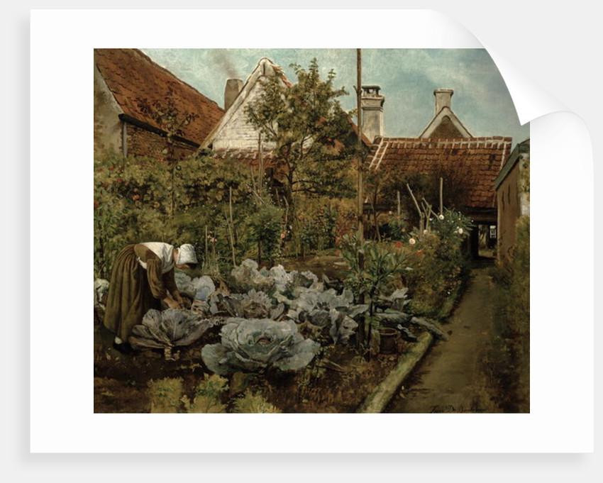 A Flemish Garden by Henri de Braekeleer