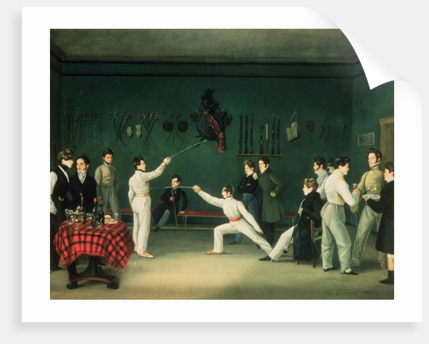 A Fencing Scene by Adolphe Ladurner