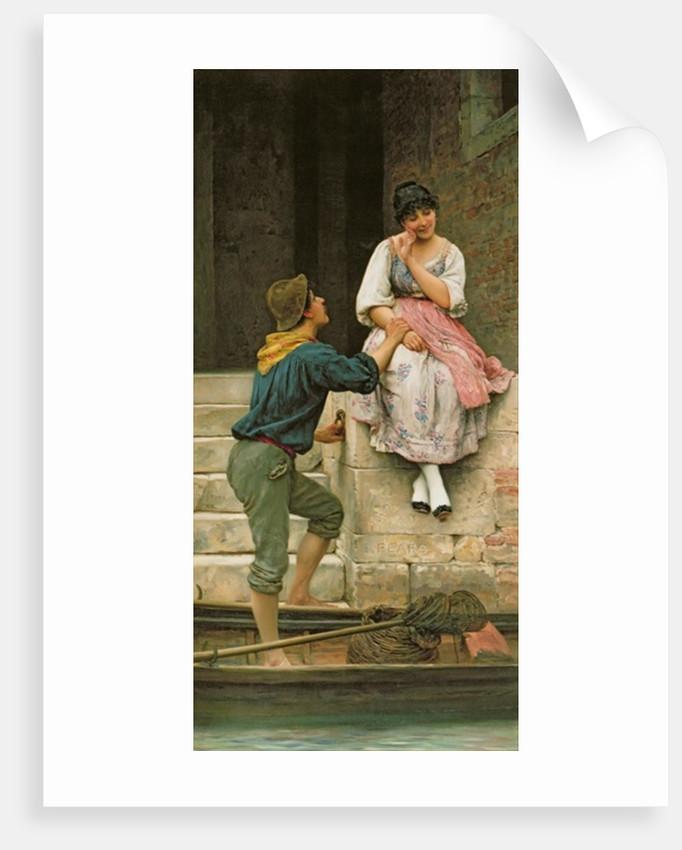 The Fisherman's Wooing by Eugen von Blaas