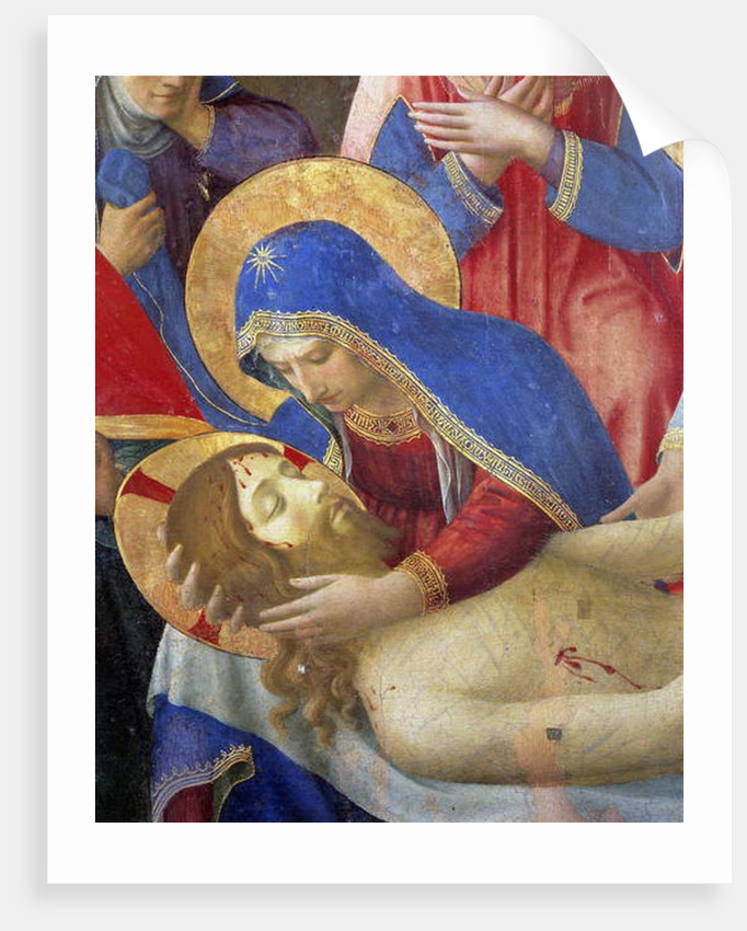 Altarpiece: Deploration or lamentation on the dead Christ by Fra (c.1387-1455) Angelico
