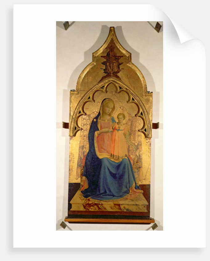 Madonna and Child, central panel from The Madonna and Child with the Holy Trinity Tabernacle, c.1430 by Fra Angelico
