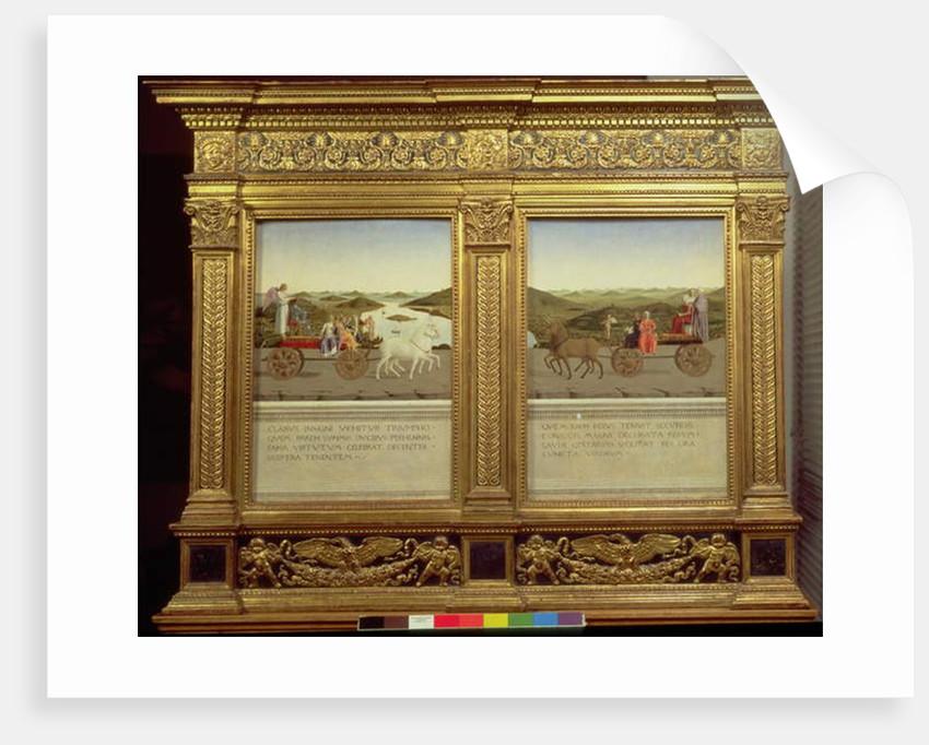 The Triumphs of Duke Federico da Montefeltro and Battista Sforza, c.1465 by Piero della Francesca