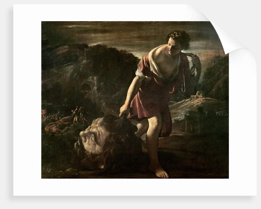 David Dragging Goliath's Head by Giovanni Lanfranco