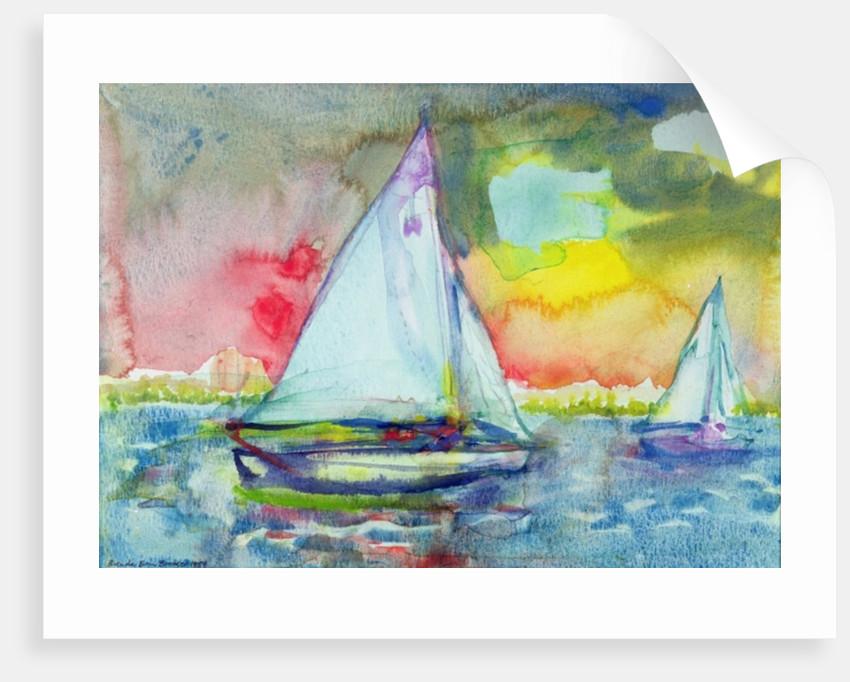 Sailboat Evening by Brenda Brin Booker
