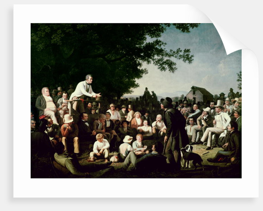 Stump Speaking by George Caleb Bingham