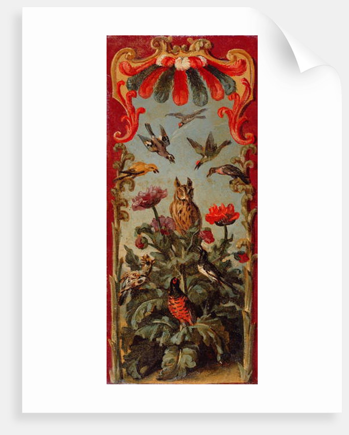 Design for the leaf of a Savonnerie screen, c.1720 by Alexandre-Francois Desportes