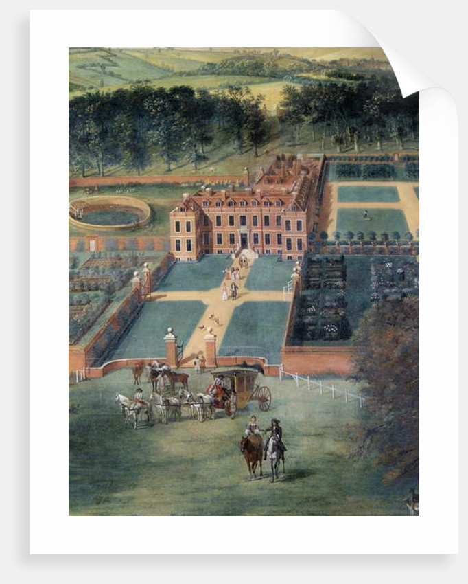 Detail of 'Cheveley Park', 1671 by Jan Siberechts