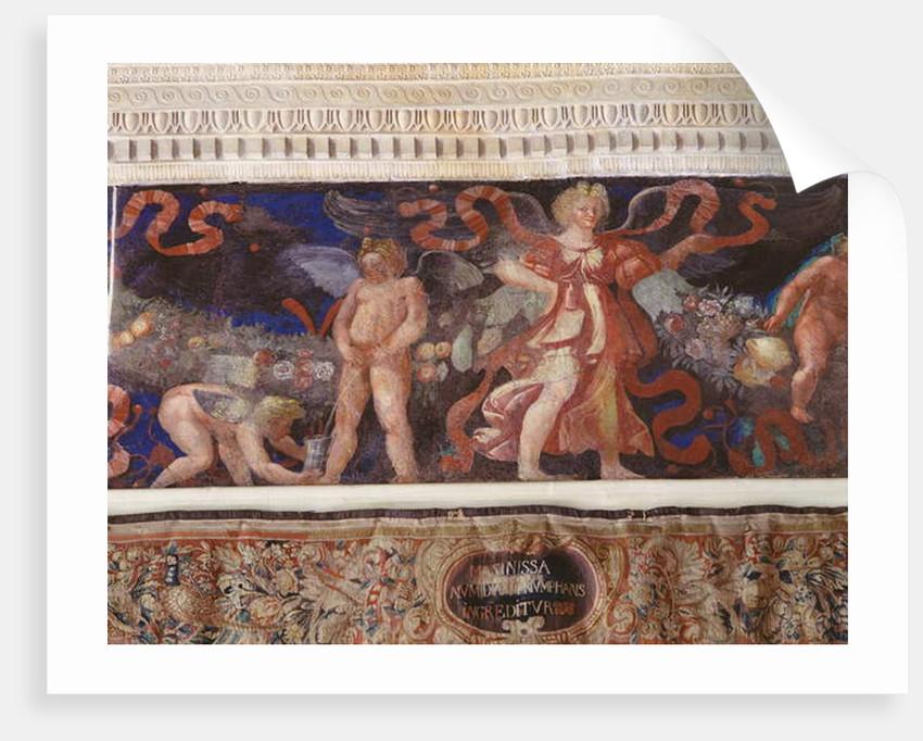 Frieze from the 'Camera con Fregio di Amorini' by Giulio Romano