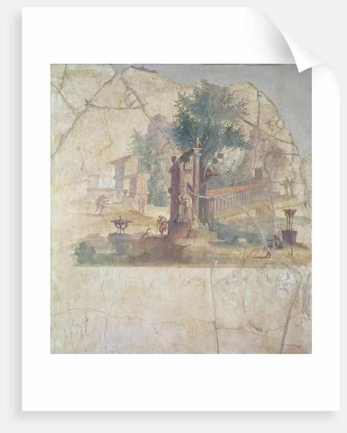 Sacro-idyllic Landscape by Anonymous
