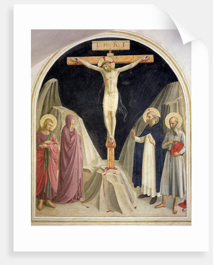 The Crucifixion, with SS. Dominic and Jerome, 1442 by Fra Angelico
