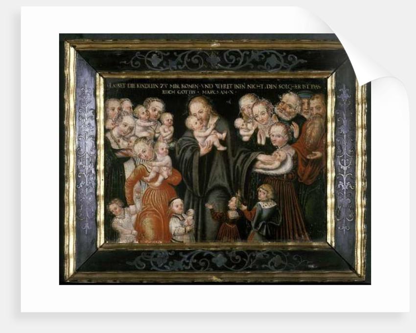 Jesus blessing the children by Lucas the Elder Cranach
