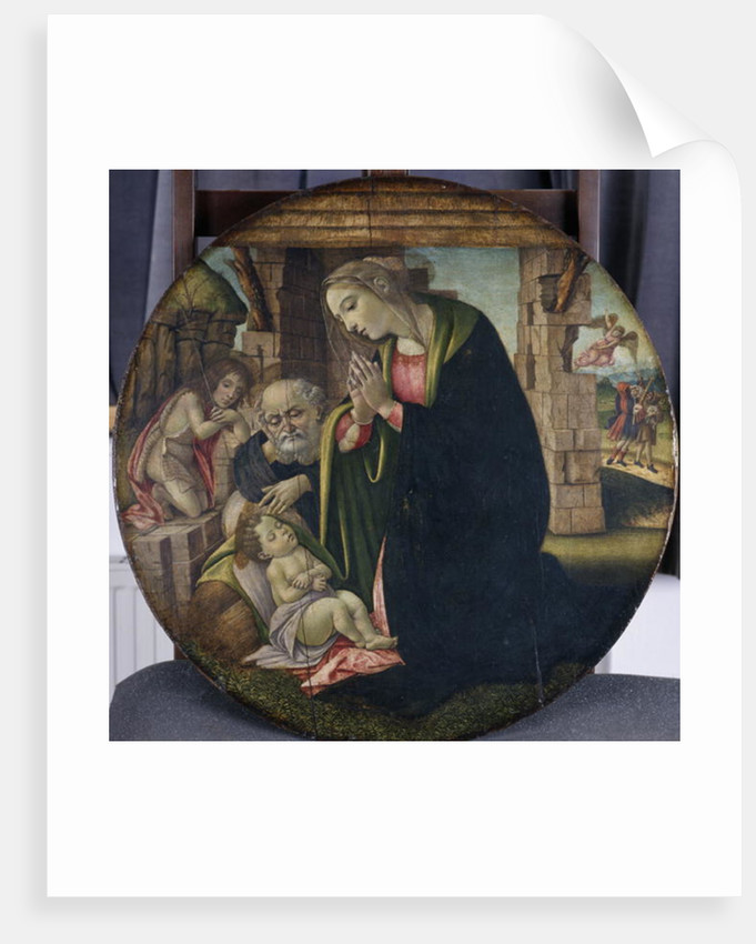 The Adoration of Jesus by Mary and Joseph, c.1380-85 by Sandro Botticelli