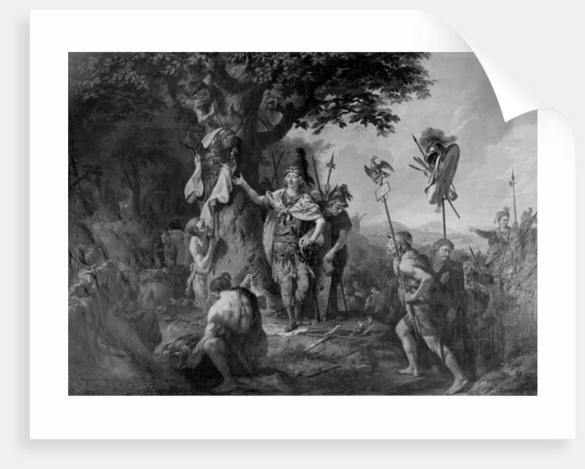 Hermann celebrating victory after the Battle in the Teutoburg Forest by Johann Heinrich Wilhelm Tischbein